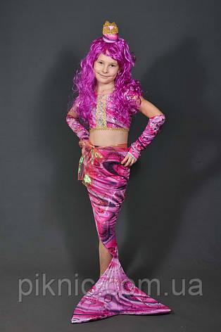 Дитячий карнавальний костюм Русалонька для дівчинки 5-11 років  Костюм Русалка без перуки 344, фото 2