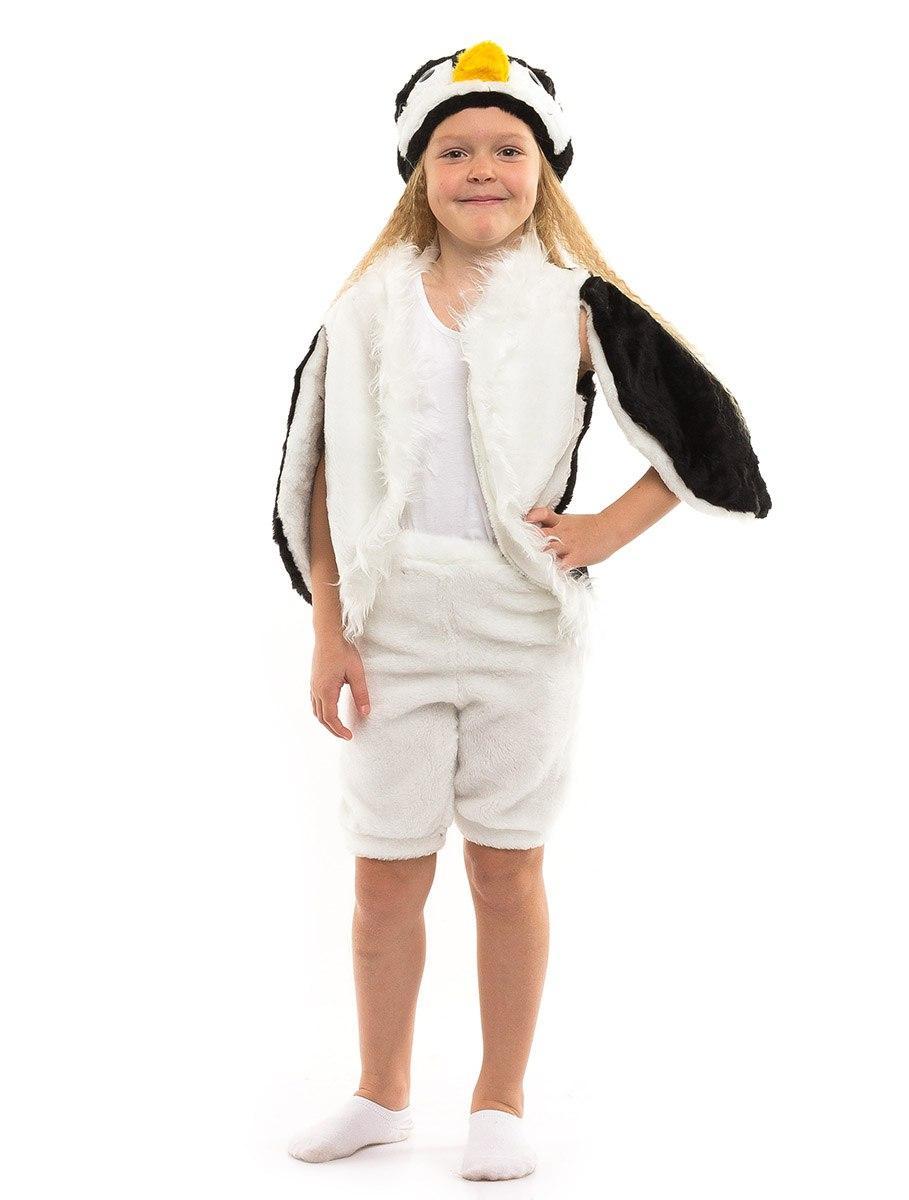 Детский карнавальный костюм Пингвина меховой (3-7 лет)