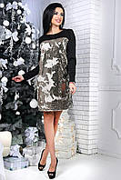 Вечернее модное платье с пайетками