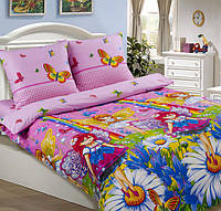 Подростковое полуторное постельное белье с простыней на резинке 90*200*25 - Маленькая фея, поплин