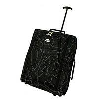 Рюкзак чемодан на колесах RGL черный узор