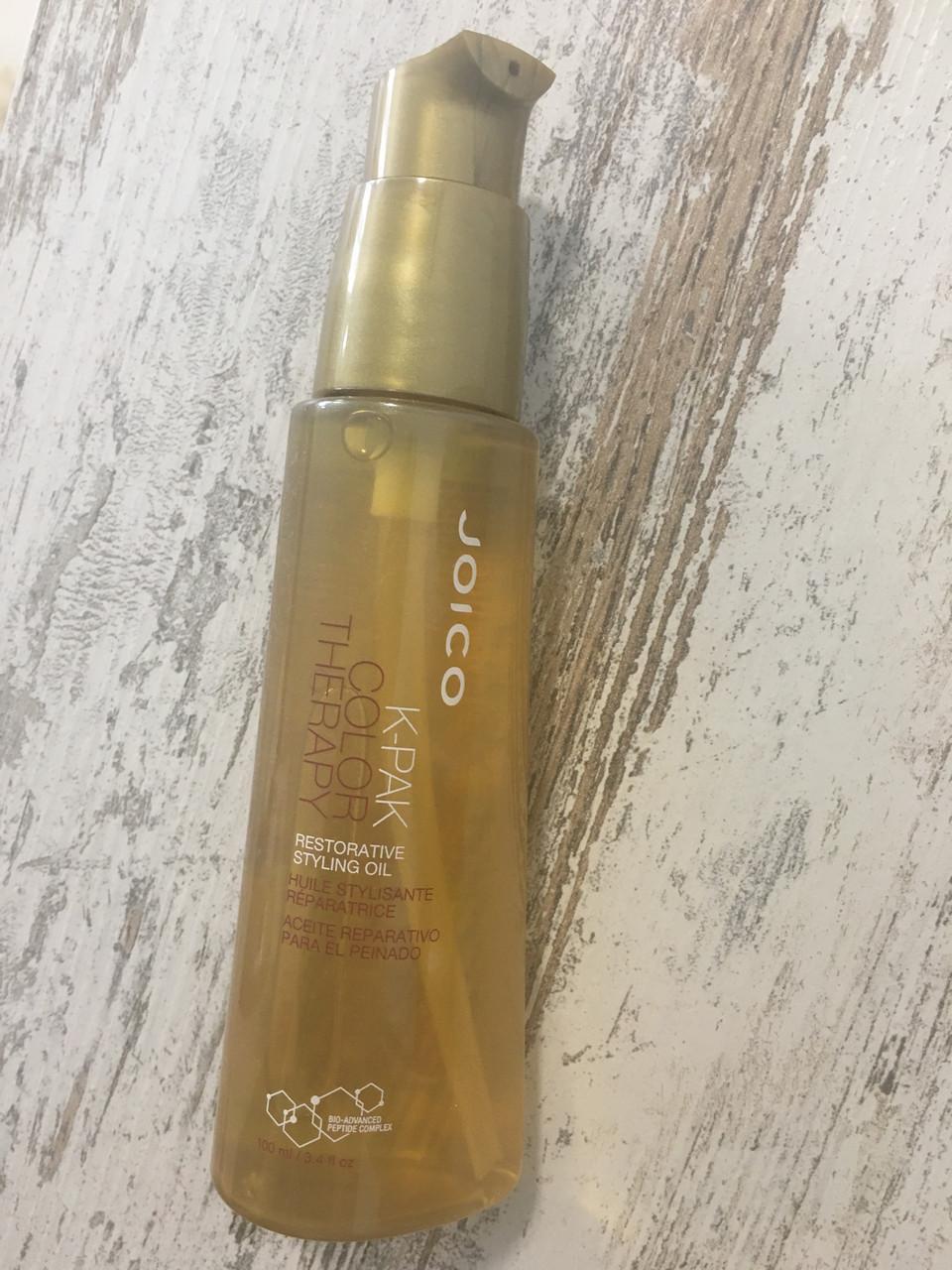 Восстанавливающее масло Joico K-Pak Color Therapy Restorative Styling Oil, 10мл