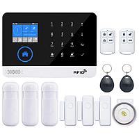 GSM, WiFi сигнализация PG-103 с поддержкой RFID. Охранная система для дома, офиса. Комплект B