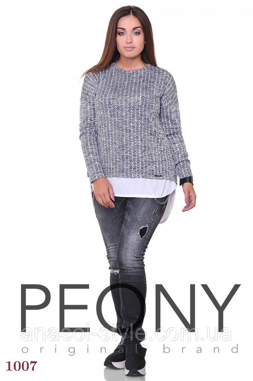 Женская туника Ротома (48 размер, белый) ТМ «PEONY»