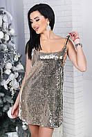 Вечернее модное платье на брителях с пайеткой