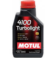 Моторное масло Motul 4100 Turbolight 10w40 4л.