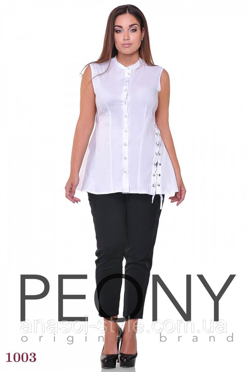 Блузка Венеция (48 размер, белый) ТМ «PEONY»