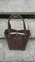Кожаная сумка - шоппер ручной работы №5
