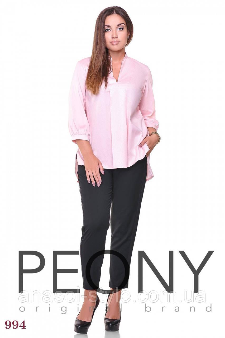 Блузка Липари (50 размер, розовый) ТМ «PEONY»