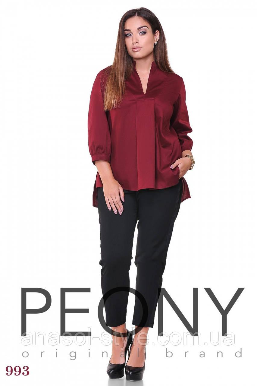 Блузка Липари (50 размер, бордовый) ТМ «PEONY»