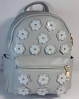 Рюкзак городской молодёжный серый