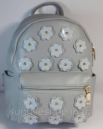 Рюкзак городской молодёжный серый, фото 2