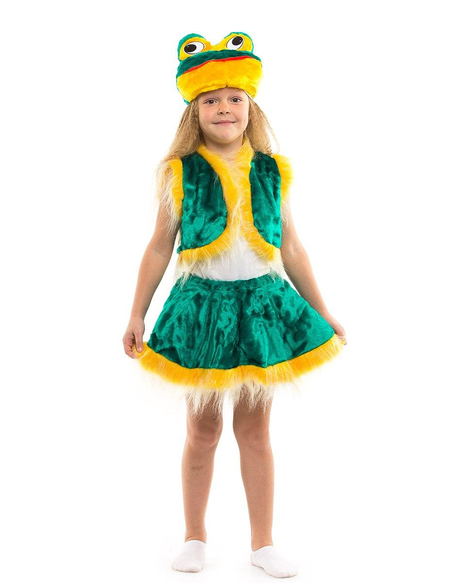 Детский карнавальный костюм Лягушка девочка меховой (3-7 лет)