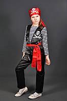 Костюм Пират, Пиратка в бандане 5-11 лет. Детский новогодний маскарадный карнавальный костюм на Новый Год