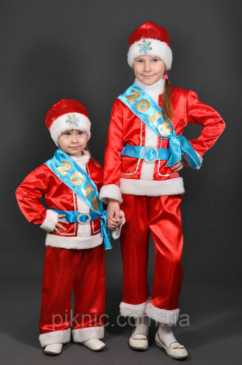 Костюм Новый Год, Дед Мороз 4,5,6,7,8,9 лет. Детский новогодний карнавальный костюм для детей