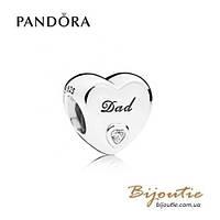 Pandora Шарм ЛЮБОВЬ ОТЦА #796458CZ серебро 925 Пандора оригинал