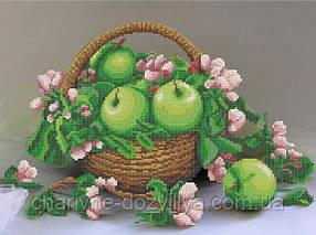 """Схема для вишивки бісером на атласі  """"Яблука в корзині """""""