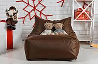 Бескаркасное Кресло мешок груша диван XL oxford кофе