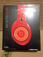 Проводные наушники Monster Beats by Dr.Dre Studio Ferrari, ( Копия )