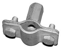 Держатель молниеприемника d16-20 мм М8 сталь оцинкованная