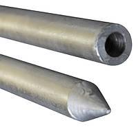 Стержень заземления безмуфтовая заостренный D16мм длина 1,5м сталь горячего цинкования