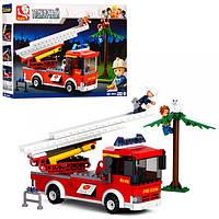 Конструктор SLUBAN M38-B0625 пожарная машина, фигурки