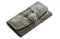Кошелек из кожи змеи Бежевый (snw02)