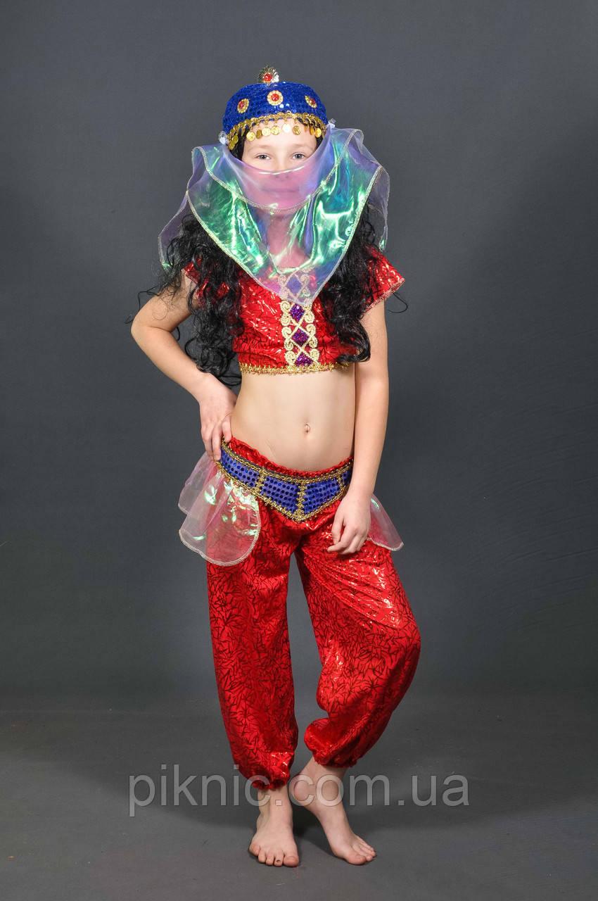 Костюм Восточный 5-8-11 лет. Детский новогодний карнавальный костюм Танцовщица Восточная красавица 344
