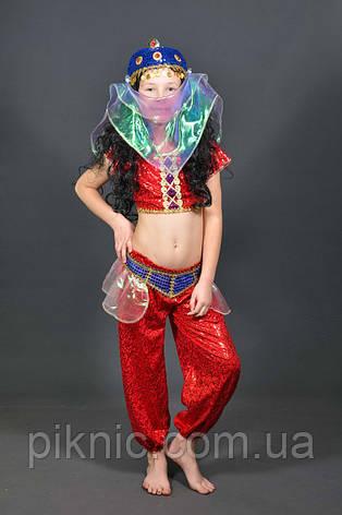 Костюм Восточный 5-8-11 лет. Детский новогодний карнавальный костюм Танцовщица Восточная красавица 344, фото 2