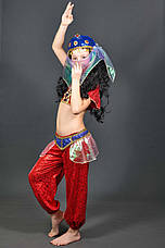 Костюм Восточный 5-8-11 лет. Детский новогодний карнавальный костюм Танцовщица Восточная красавица 344, фото 3