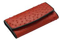Кошелек из кожи страуса Ekzotic Leather  Красный (ow01), фото 1