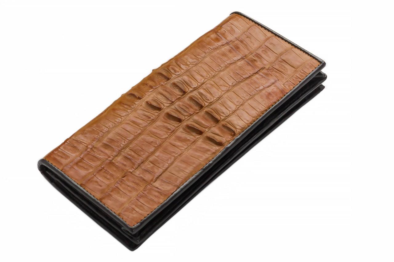 Кошелек из кожи крокодила Ekzotic Leather Коричневый (cw11)