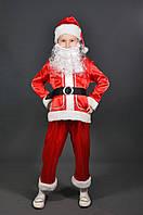 Костюм Санта Клаус 5, 6, 7, 8, 9,10 лет. Детский новогодний карнавальный маскарадный костюм Дед Мороз