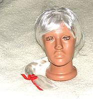 Парик женский  белые волосы косички