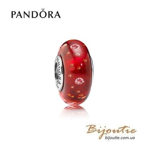 Pandora шарм КРАСНОЕ МУРАНО #791631CZ серебро 925 Пандора оригинал - BIJOUTIE (БИЖУТЬЕ) в Киеве