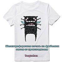 Шелкография на футболках под заказ от производителя в Украине