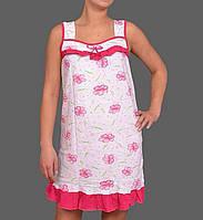 Короткая ночная сорочка (ночнушка) женская домашняя мягкий хлопок Украина