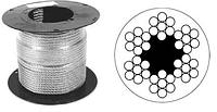 Трос стальной в оплетке ПВХ DIN 3055 (6х7)