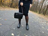 Кожаная сумка с карманом на молнии №11