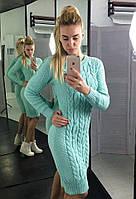 Вязанное женское стильное платье, фото 1