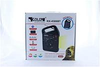 Радио GOLON RX 498 BT bluetooth с солнечное панелью