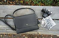 Стильная кожаная сумка на длинных ручках №12