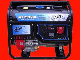 Бензиновый генератор 6,3 кВт AGT 8203 MSB