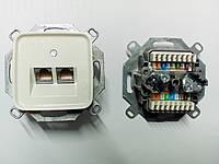 Копия Механизм компьютерной Abb 0217-101-507 на 2-выхода FTP-экранированная (5 кат, 155 Мбит/сек) (Б/У)