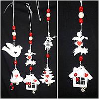 Рождественское украшение из дерева, ручная работа, 35 см, 45/40 (цена за 1 шт. + 5 гр.)