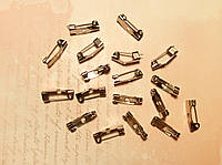 Основа для шпильки 15*5мм 18шт серебро, фото 1