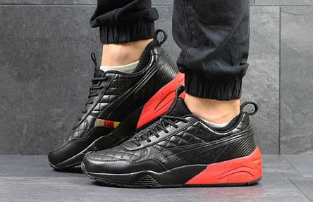 Кроссовки Ronnie Fieg x Highsnobiety x Puma черные с красным, фото 2