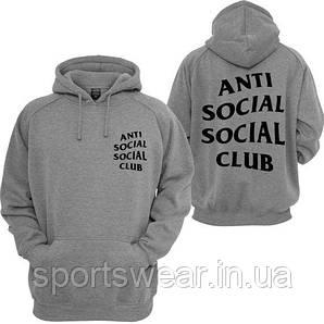 "Толстовка серая A.S.S.C. |  Antisocial social club Mind Games Толстовка | БИРКА | Худи АССК """" В стиле Anti Social Social Club """""