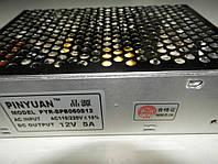Блок питания адаптер 12 В 5 А 12 V 5 A металл