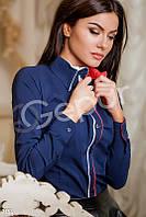 Классическая котоновая рубашка с кантом Gepur 7154